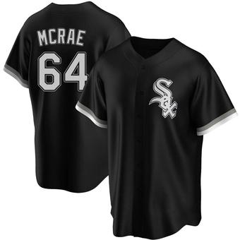 Men's Alex McRae Chicago Black Replica Alternate Baseball Jersey (Unsigned No Brands/Logos)
