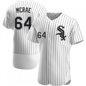 Men's Alex McRae Chicago White Authentic Home Baseball Jersey (Unsigned No Brands/Logos)