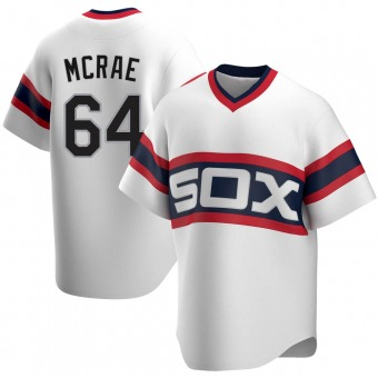 Men's Alex McRae Chicago White Replica Cooperstown Collection Baseball Jersey (Unsigned No Brands/Logos)