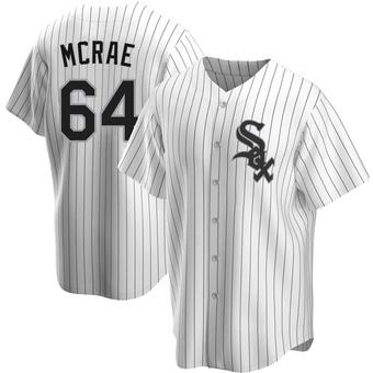 Men's Alex McRae Chicago White Replica Home Baseball Jersey (Unsigned No Brands/Logos)