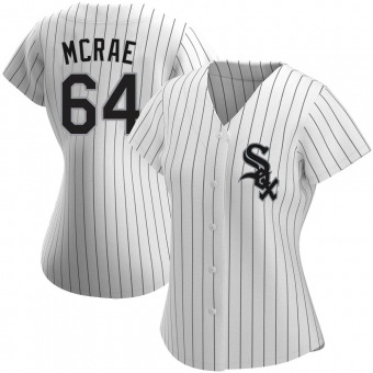 Women's Alex McRae Chicago White Authentic Home Baseball Jersey (Unsigned No Brands/Logos)