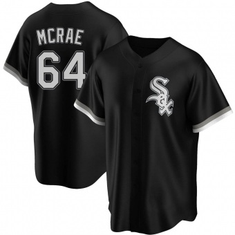Youth Alex McRae Chicago Black Replica Alternate Baseball Jersey (Unsigned No Brands/Logos)