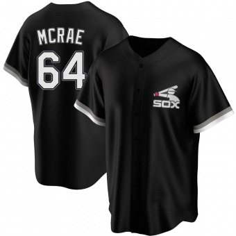 Youth Alex McRae Chicago Black Replica Spring Training Baseball Jersey (Unsigned No Brands/Logos)